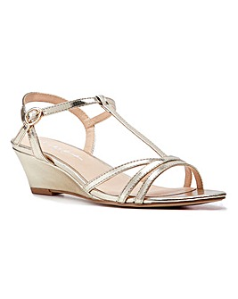 Paradox London Tessa T-bar Wedge Sandals