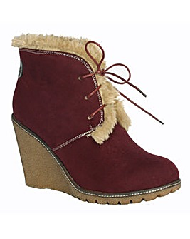 Pixie Emily Fur Lined Wedge