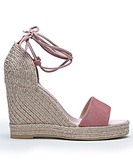 Daniel Caria Suede Jute Wedge Sandals