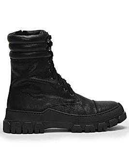 Daniel Nullah Leather Chunky Biker Boots