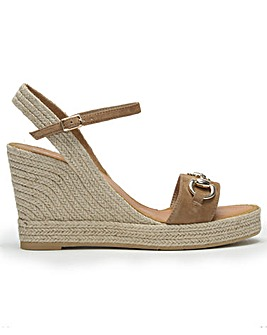 Daniel Celta Buckle High Wedge Sandals