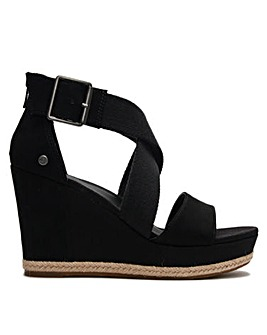 UGG Calla Cross Strap Wedge Sandals