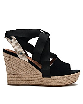 UGG Shiloh Suede Wedge Espadrilles