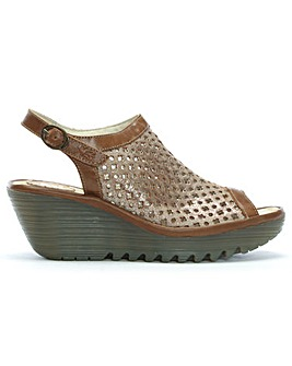 Fly London Yuti Perforated Wedge Sandals