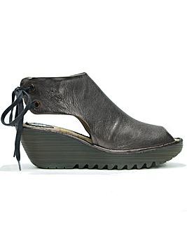 Fly London Yuzu Sling Back Wedge Sandals