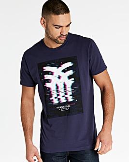 Fenchurch Glitch Print T-Shirt Long