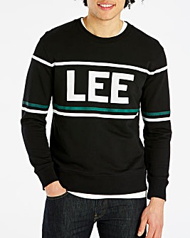 Lee 90's Black Logo Crew Sweat