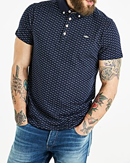 Bewley & Ritch Navy Teps Print Polo Regular