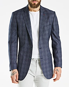 Bewley & Ritch Quarks Navy Check Blazer Regular