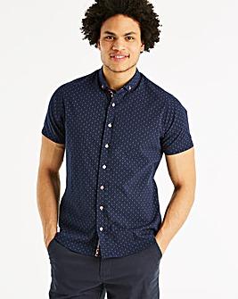 Bewley & Ritch Navy Sarkell Short Sleeve Shirt Regular