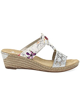 Rieker Cadet Wider Fit Wedge Sandals
