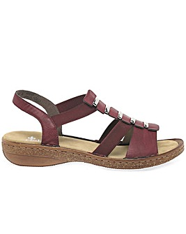 Rieker Trim Womens Sling Back Sandals