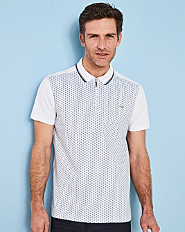 Bewley & Ritch White/Navy Finnie Polo Regular