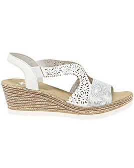 Rieker Alabama Womens Wedge Heel Sandals