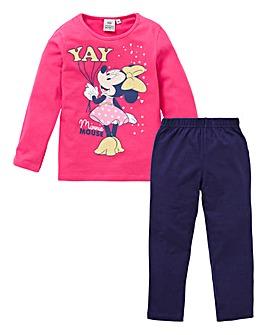 Minnie Mouse Girls Glitter Yay Pyjamas