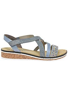 Rieker Kindy Womens Riptape Sandals