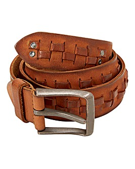 Joe Browns Basket Weave Leather Belt