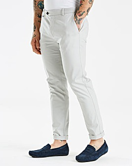 Burton London Skinny Grey Stretch Chino