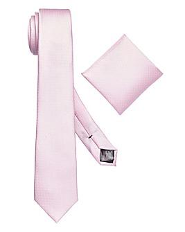 Burton London Pink Textured Tie Set