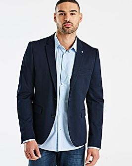 Burton London Big &Tall Navy Jersey Blazer