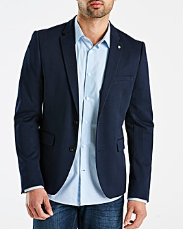 Burton London B&T Navy Jersey Blazer