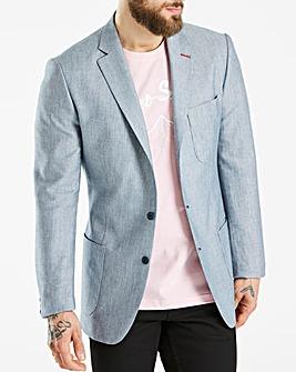 Bewley & Ritch Blue Tariff Linen Mix Blazer Regular