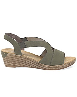 Rieker Newry Womens Wedge Heel Sandals