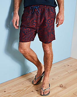 Ben Sherman Abaka Red/Navy Swim Shorts