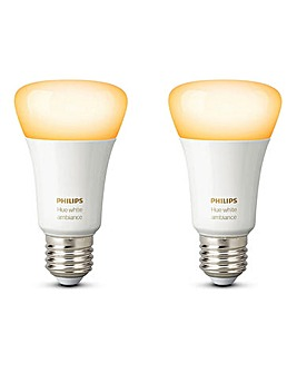 Philips Hue White & Colour E27 Twin Pack