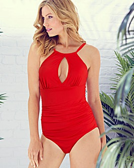 Magisculpt Red High-Neck Swimsuit