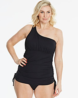 Magisculpt Black One Shoulder Swimdress