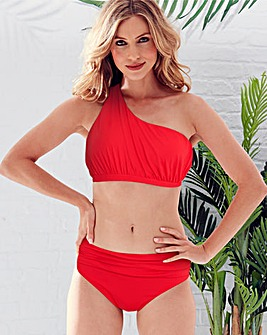 Magisculpt Red One Shoulder Bikini Top