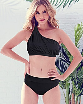 MAGISCULPT Black One Shoulder Shaping Bikini Top