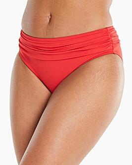 Magisculpt Red Fold Over Bikini Bottom