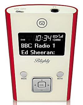 VQ Blighty Pocket Radio + Earphones Red