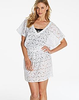 White Crochet Kaftan