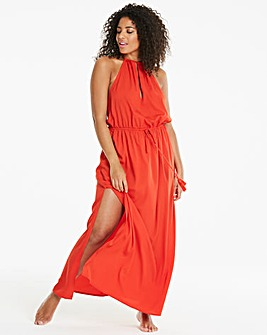Beach to Beach Red Maxi Dress