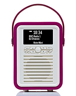 VQ Mini Radio & Bluetooth Speaker Pink