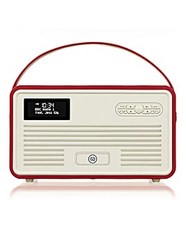 VQ Radio, Apple Dock + Bluetooth Red