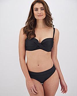 MAGISCULPT Black Minimising Multiway Bandeau Shaping Bikini Top