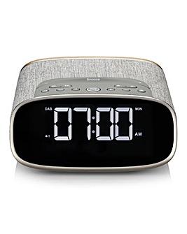 VQ Bedside Alarm Clock Grey Oak