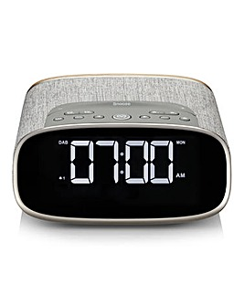 VQ Lark Bedside Alarm Clock Grey Oak