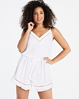 Simply Yours White Beach Playsuit