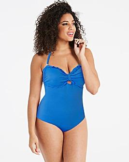 Blue Bandeau Swimsuit