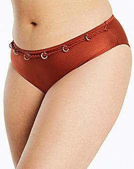 Halter Neck Chain Trim Bikini Bottoms