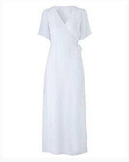 Wrap Over Beach Dress