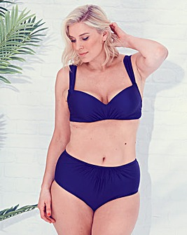 Navy Moulded Bikini Top