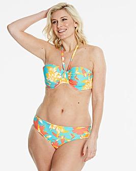 Floral Print Tie Bandeau Bikini Top