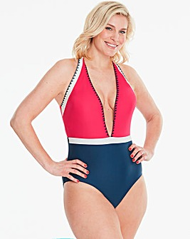 Simply Yours Stitch Plunge Swimsuit