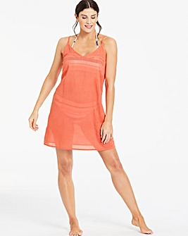 Basic Strappy Cotton Beach Dress